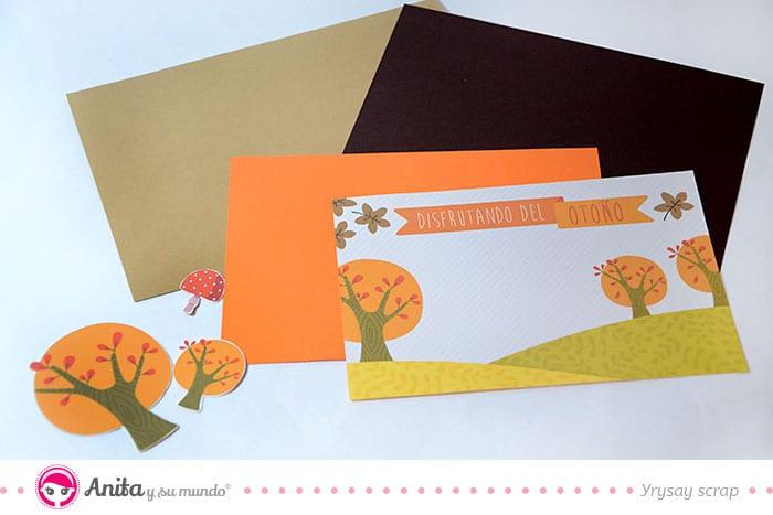 base de papel kraft para tarjeta horizontal