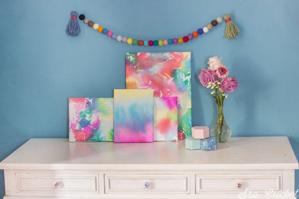 cuadros con papel seda manualidades para niños handbox craft