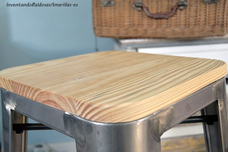 decorar-taburete-madera