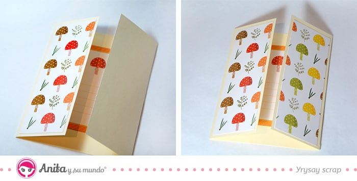 decorar portadas tarjeta tipo ventana