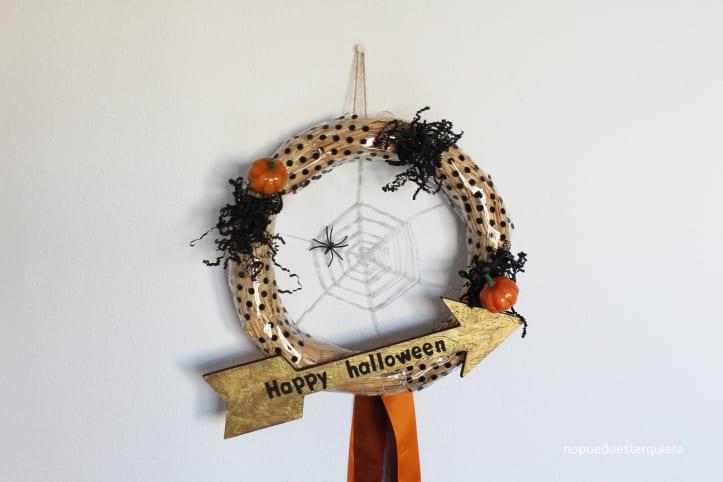 Decoración de halloween para la puerta. DIY. Handmade. Pumpkin