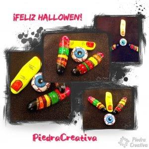 Feliz Halloween con piedras pintadas por PiedraCreativa