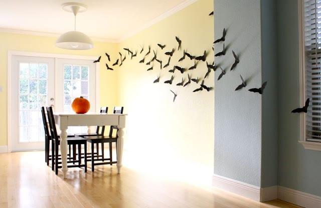 fiesta de Halloween - Murcielagos para la pared de madeeveryday