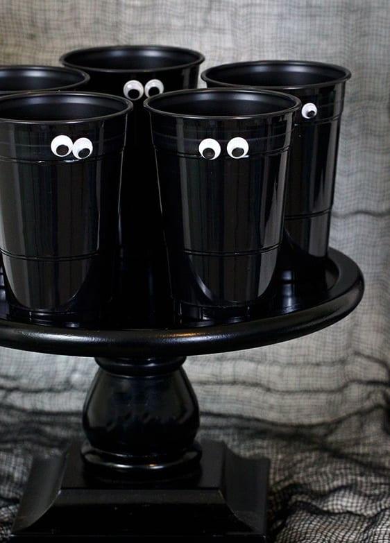 fiesta de Halloween - Ojos en los vasos de Cutefetti