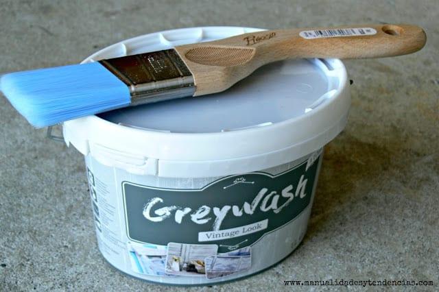 Pintura greywash vintage