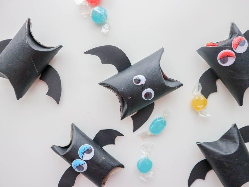 cajas para caramelos hechas con rollos de papel higienico