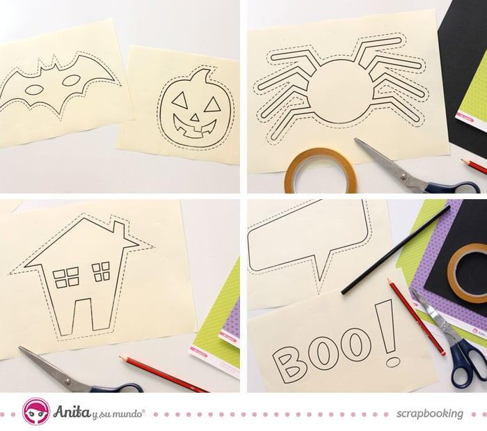 Plantillas imprimibles para photocall halloween