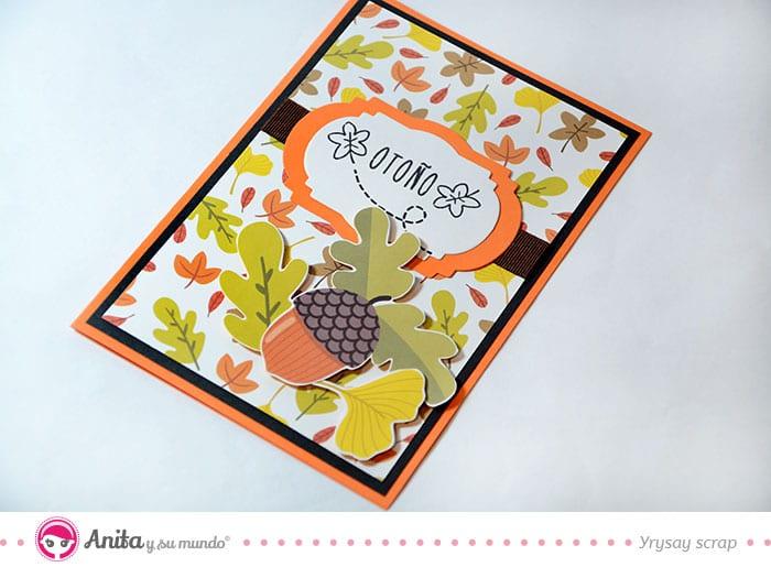 decoración de una tarjeta de otoño
