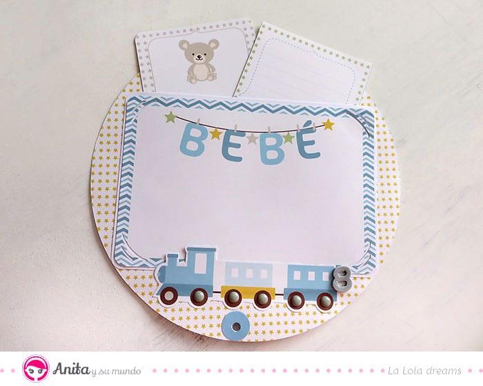 tarjeta para album bebé