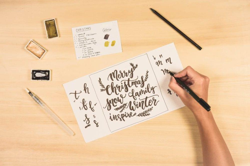 Diseñando Lettering Calendario Adviento
