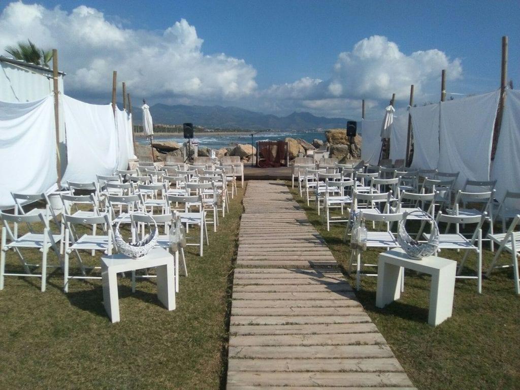 boda DIY - Zona de ceremonia antes de que llegaran los invitados