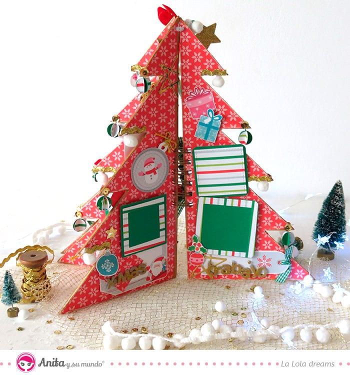 tutorial álbum árbol de navidad