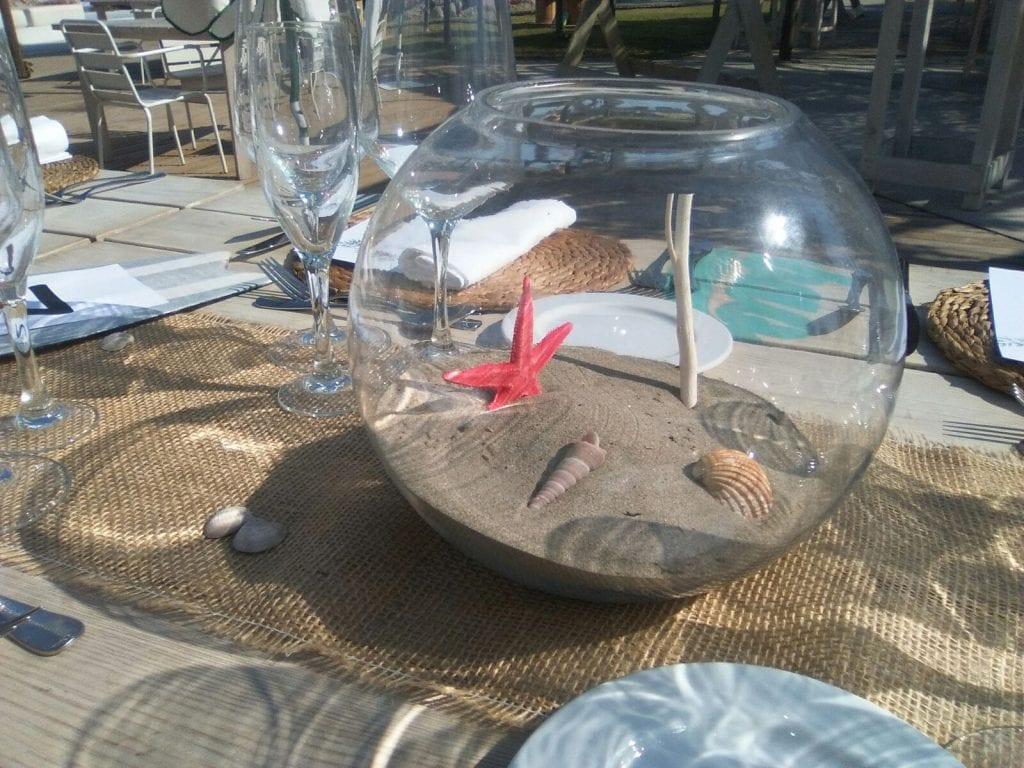 boda diy - Detalle de las peceras de las mesas