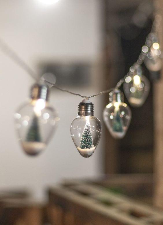 DIY Inspiration   Snow Globe Light String