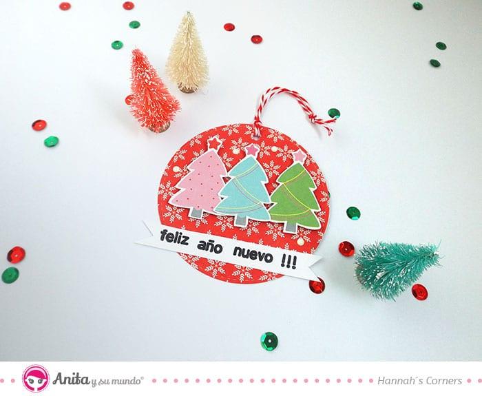 colgador papel scrapbooking navideño