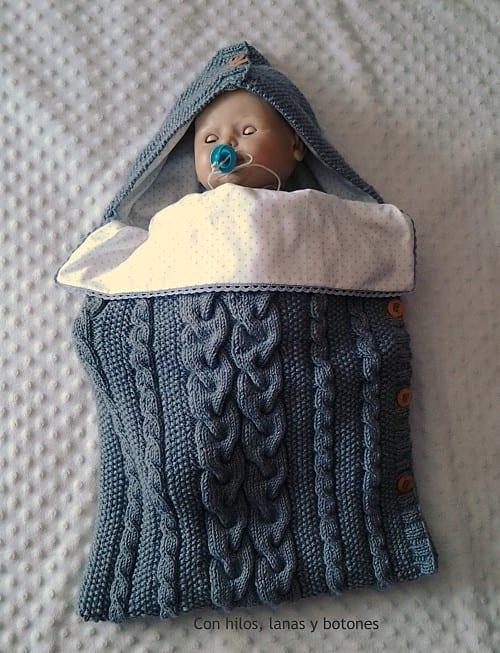 Saco de punto para bebé - Handbox Craft Lovers | Comunidad DIY ...