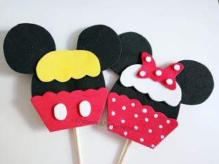 cupcakes-mickey-y-minnie-en-goma-eva-creandoyfofucheando