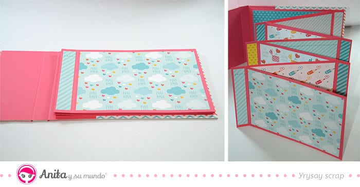 decorar cartulinas con papel scrap