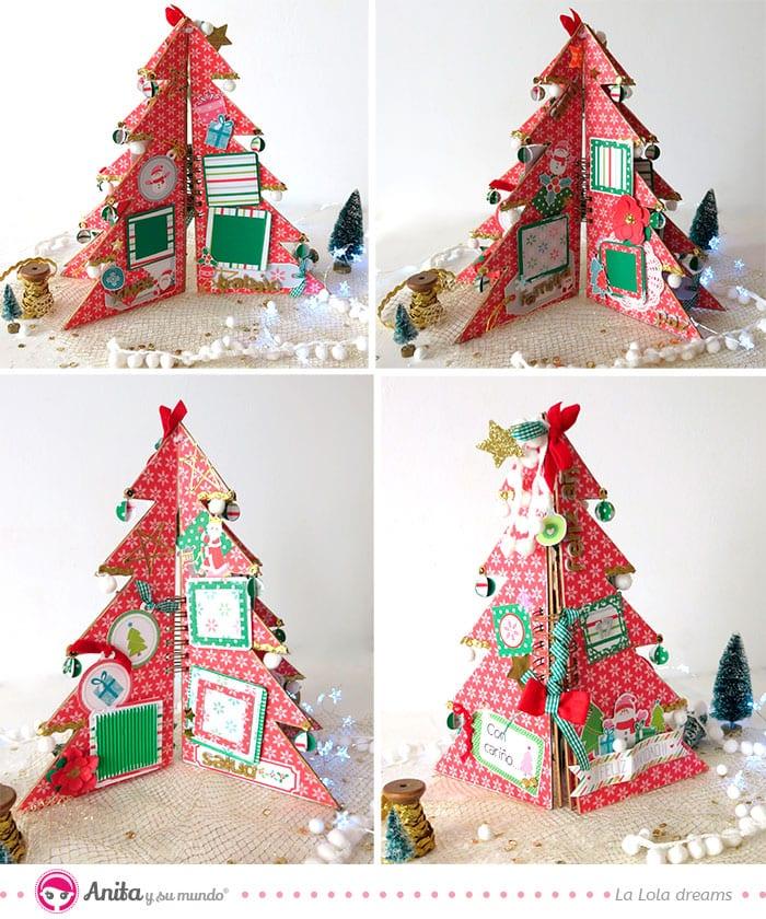arbol navidad scrapbooking home decor