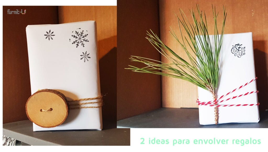 envolver regalos de Navidad diy express - 2 ideas para regalos envueltos originales