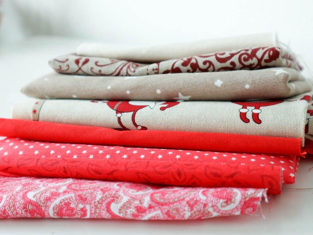 telas de colores navideños