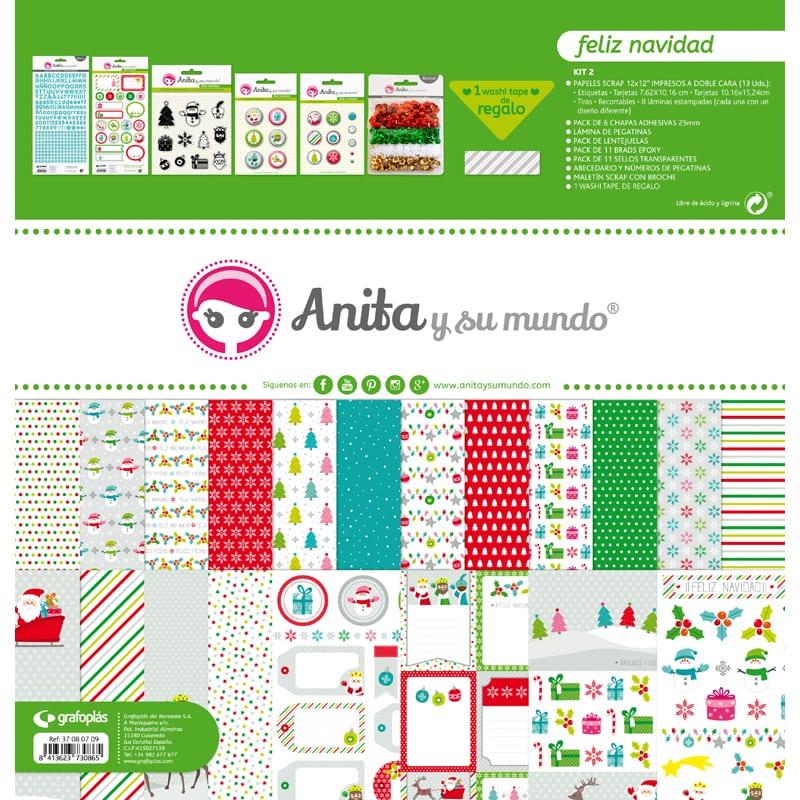 kit de scrapbooking navideño