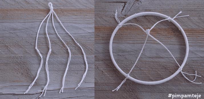 soporte móvil de peces tejidos a ganchillo para la cuna