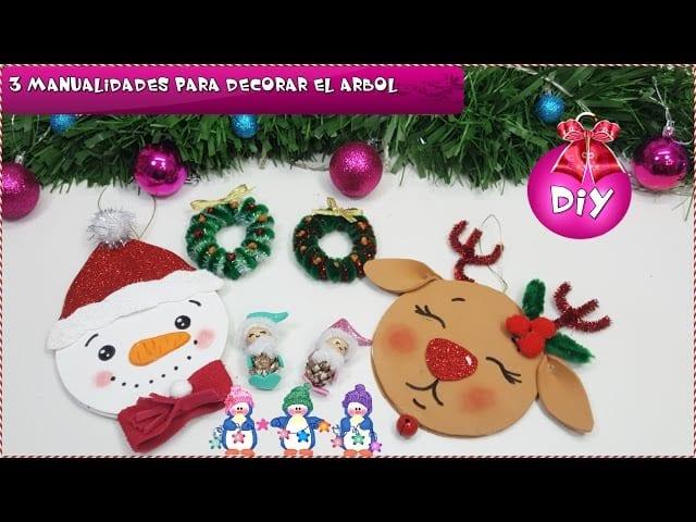 3 Diy Faciles Para Decorar El Arbol Manualidades Navidad Para Ninos - Manualidades-navidad-con-nios