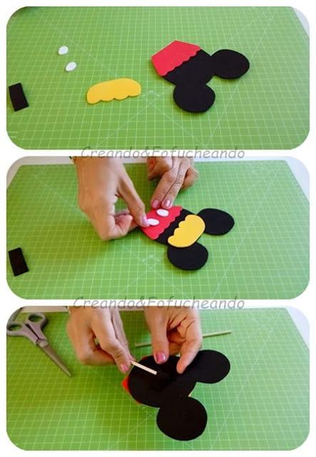 pasos-cupcake-mickey-en-goma-eva-creandoyfofucheando