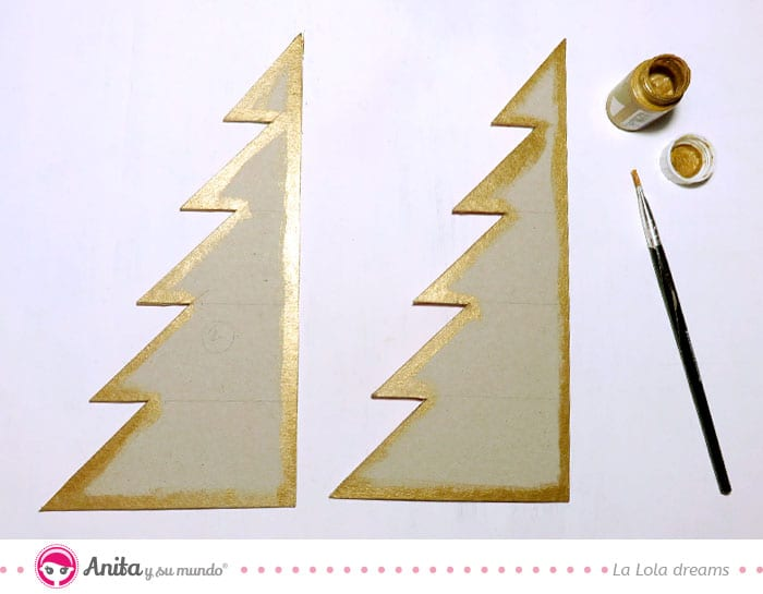 pintar bordes álbum navideño