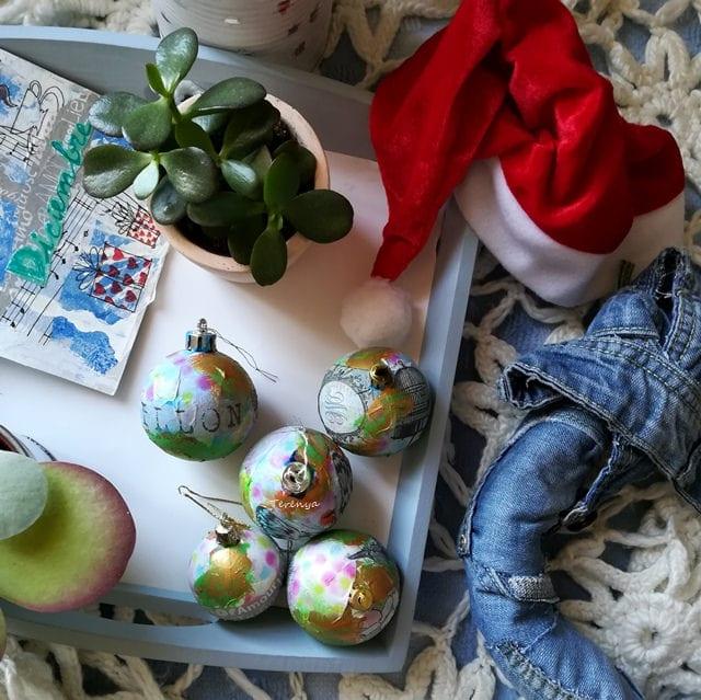 decorando bolas de navidad byterenya