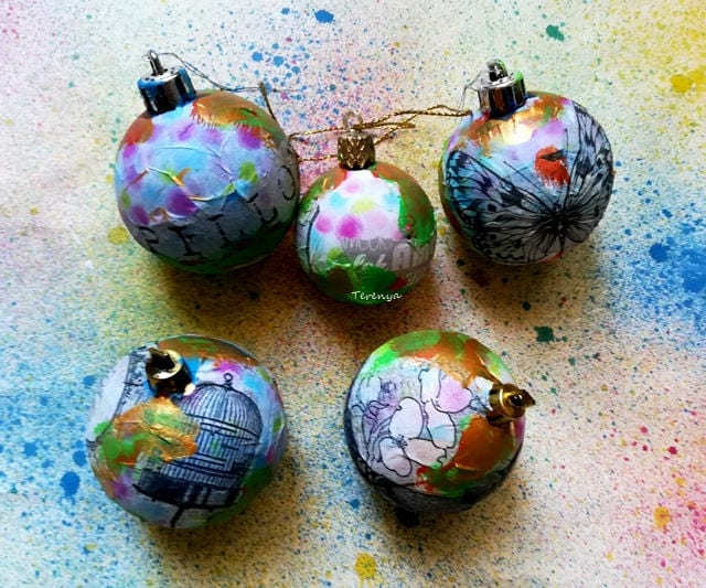 bolas decoradas para navidad byterenya