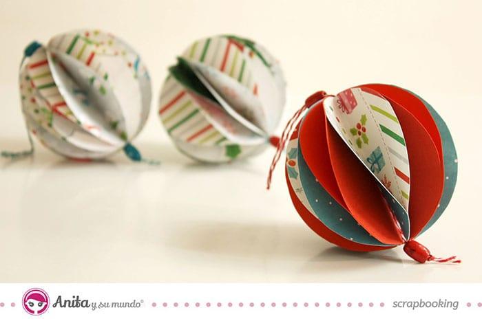Adornos de navidad con papel scrap