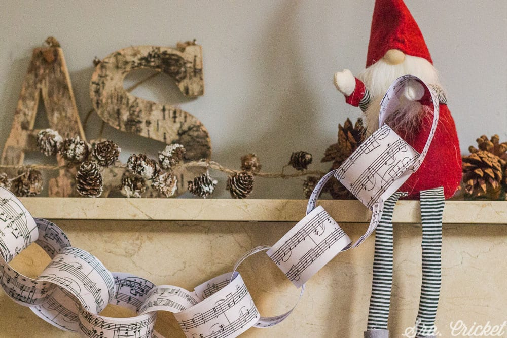 cadeneta de papel para decorar fiestas