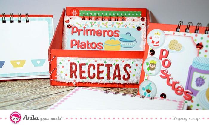 caja archivadora de cuaderno de recetas
