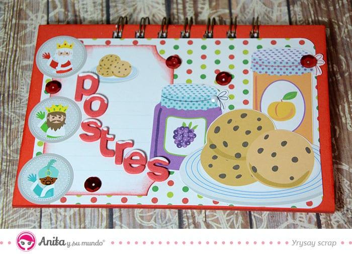 como hacer cuaderno recetas navidad