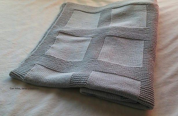 Como Hacer Cuadros De Crochet Para Mantas.Manta De Punto Para Bebe Paso A Paso Handbox