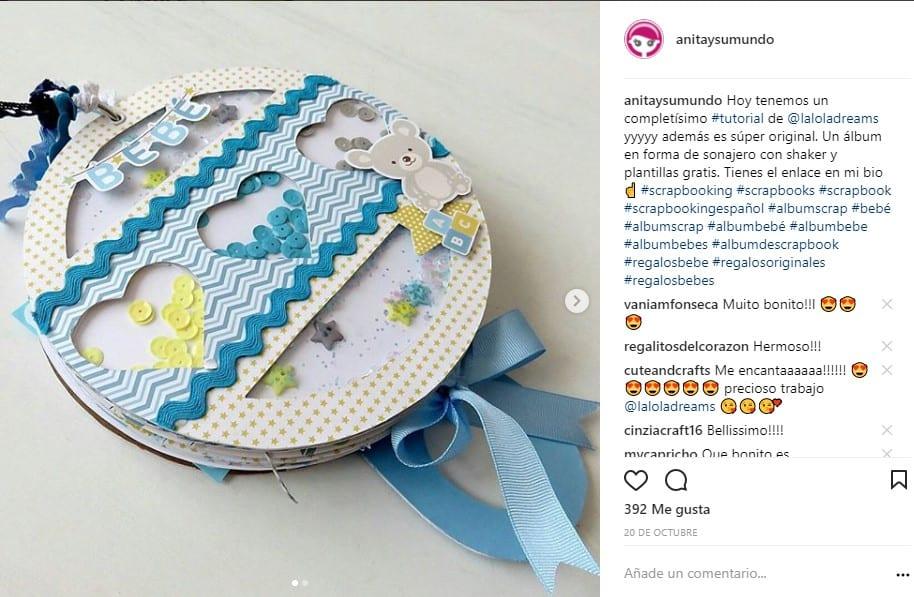 tutorail album sonajero instagram scrapbooking