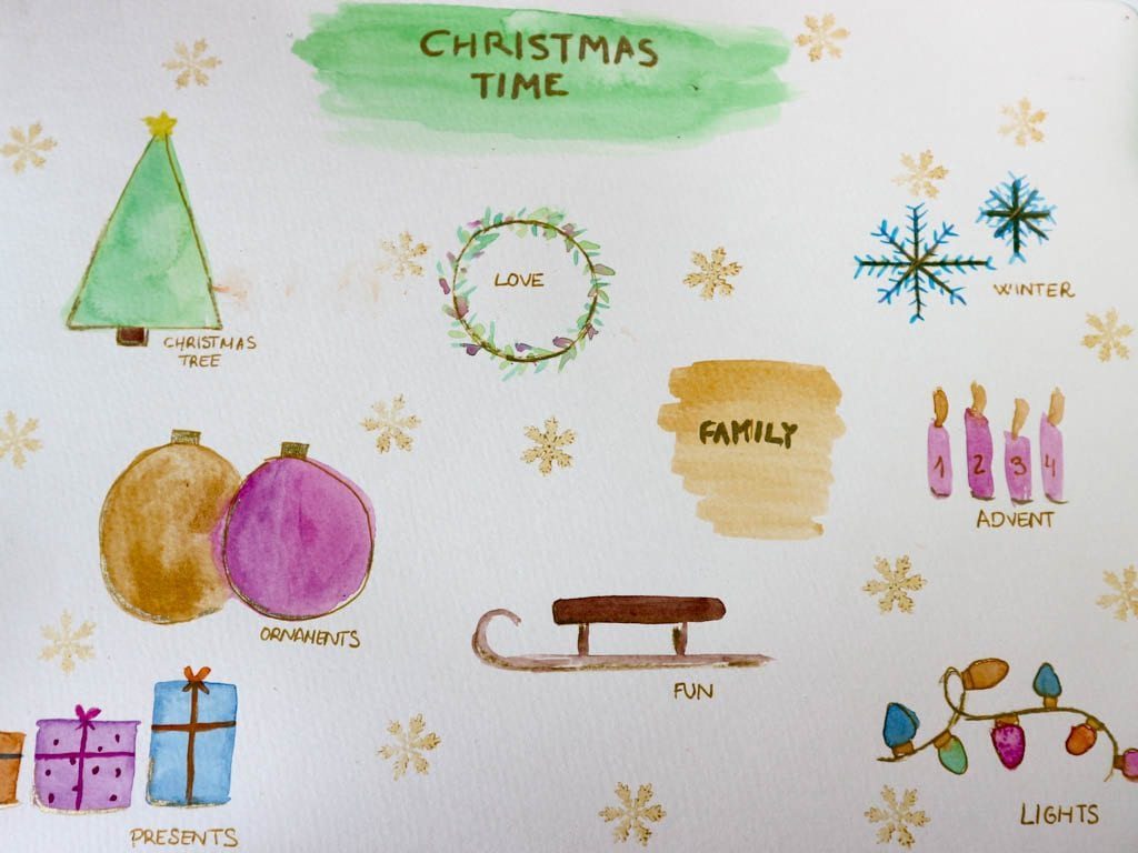 dibujos para hacer postales de navidad originales