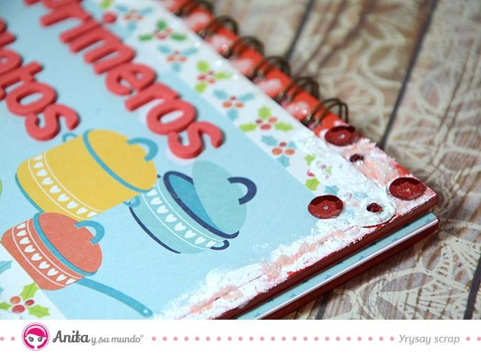 lentejuelas decoración cuaderno recetas