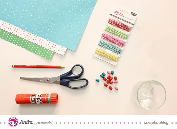Materiales para hacer bolas de navidad de papel