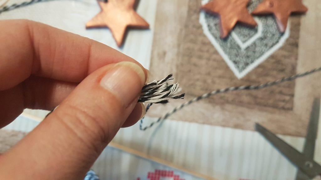 Navidad en Cobre - Corta las cuerdas de golpe si quieres que tengan una altura similar