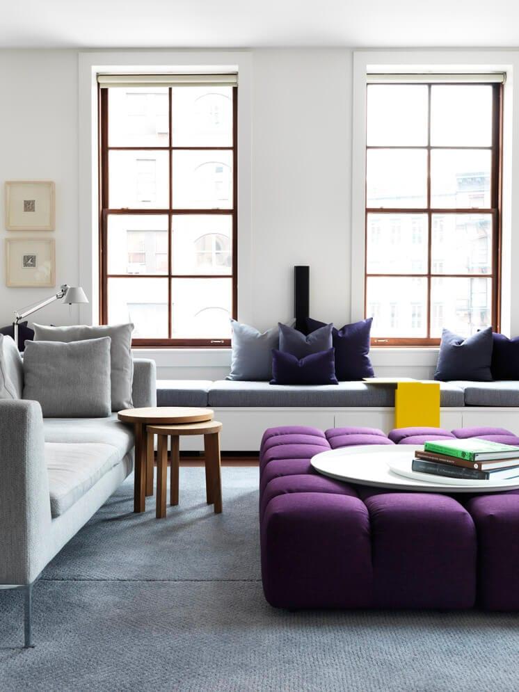 Decorar con Ultra Violet, color Pantone 2018