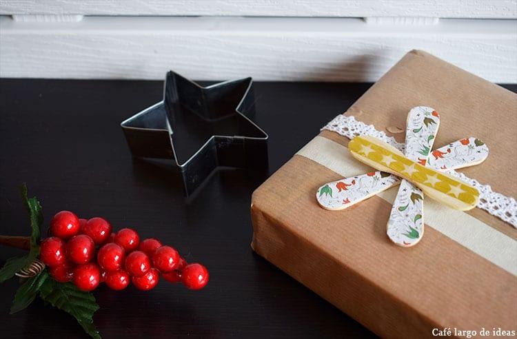 Packaging de Navidad con palos de helado
