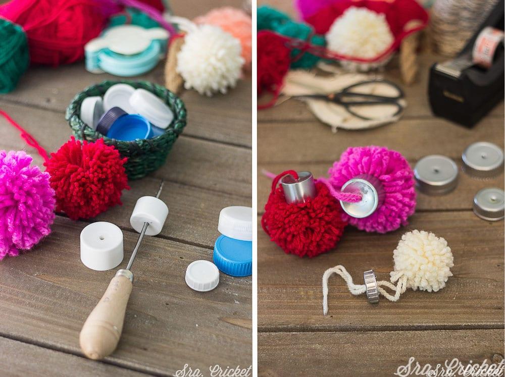 pompones de lana bolas de navidad