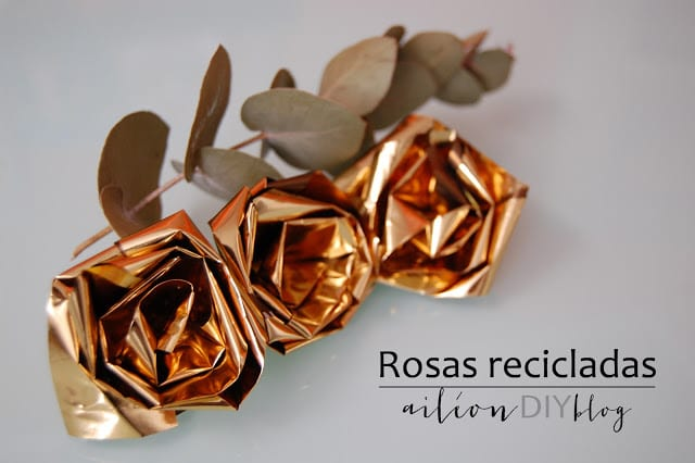 upcycled rose rosa reciclada diy chips bag