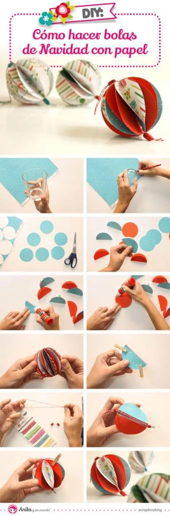 tutorial bolas navidad papel