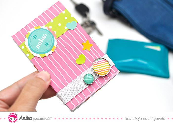 cómo hacer una libreta con papel decorado