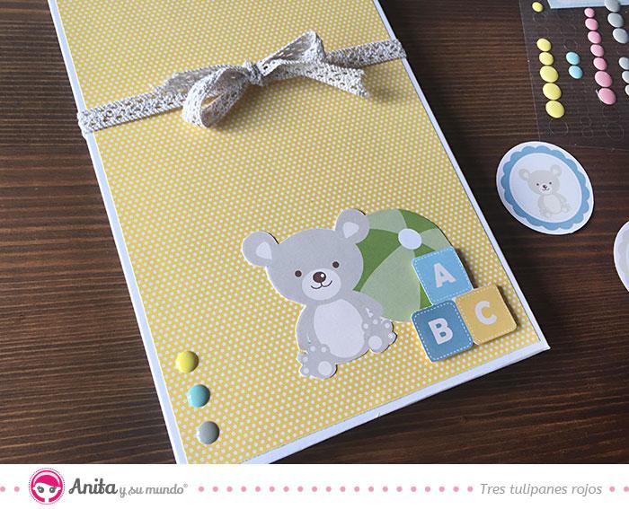 decoración mini álbum bebé