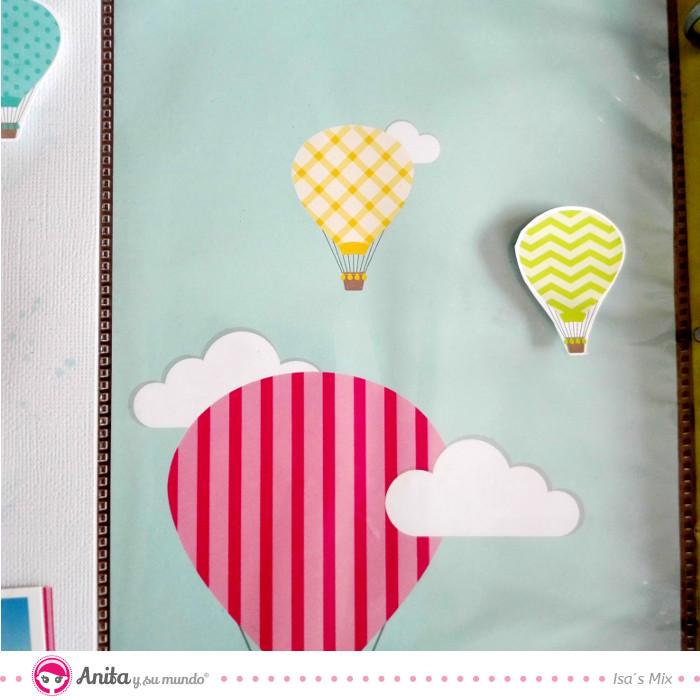 decorar álbum con globos de aventura